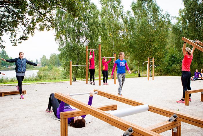 utegym träning motion natur markaryd