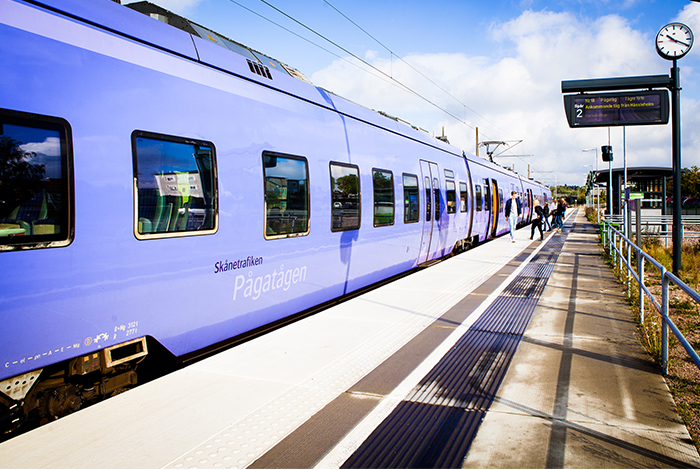Pågatåg i Markaryd - Stationen tåg transport kommunikationer