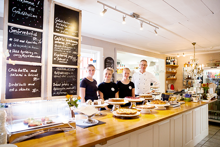 Gräddhyllan lantligt café Tånneryd Markaryd