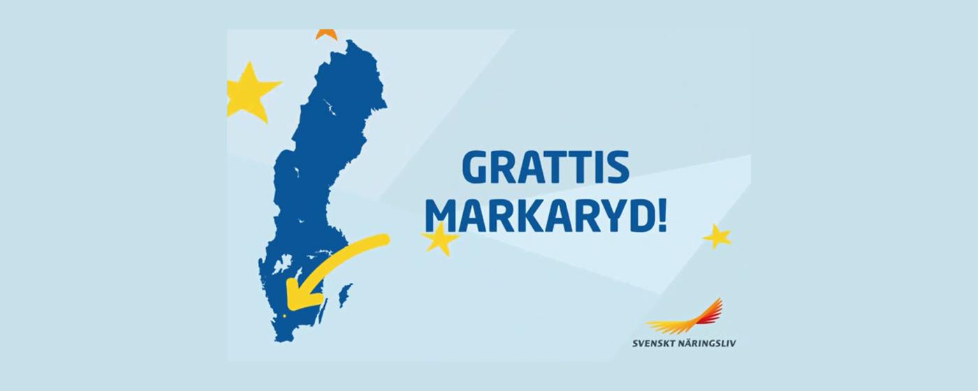 Toppbetyg för Markaryd i Svenskt Näringslivs undersökningen över näringslivsklimatet i Sveriges kommuner